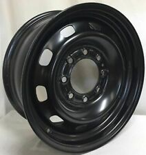 17 Inch 8 on 6.5 Black Steel Wheel Fits Ram 2500 3500 Single Wheel WE5812N New