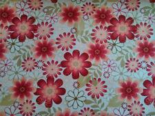 Burgundy Vintage Floral Cotton Fabric Per Meter Craft Quilting Dress Patchwork