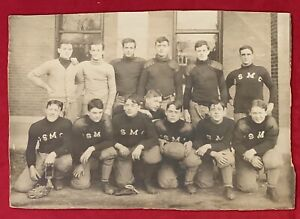 Antique c. 1900 US Marine Corps Football Team Cabinet Photo Early Old Vintage