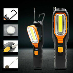 LED Work Light COB Car Garage Inspection Lamp Magnetic Torch USB Rechargeable UK