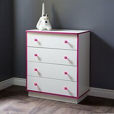 Kids Dressers With Drawers Girls Bedroom Furniture Wood Clothes Organizer Pink