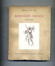 Daniel Defoe # ROBINSON CRUSOE - Volume Secondo # UTET 1954
