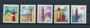 D121849 Lighthouses MNH East Germany