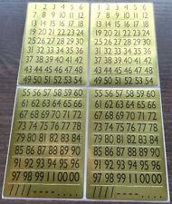 """Silber 10x23cm Gothic/"""" Transparent mit Glittereffekt  Gold Sticker /""""Zahlen"""