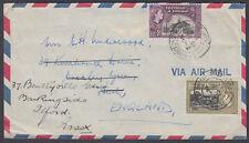 1954 Trinidad & Tobago Airmail; Watford / Herts B/S; redirect Ilford, Essex