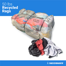 50 Lb Cotton Nylon Rags - Used as Cleaning Towels, Shop Rags, Wiping Cloths