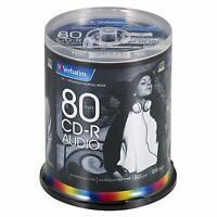 100 Verbatim JAPAN Blank CD-R Audio Music CDR 80min White Label MUR80FP100SV2