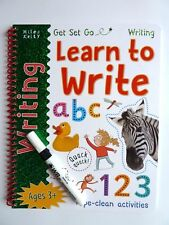 My Big Wipe and Clean learn to write book with wipe- clean pen 3+