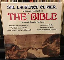sealed SIR LAURENCE OLIVIER / THE BIBLE dramatic readings from The Bible 1975