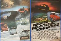 """1973 VINTAGE 2 PG PRINT AD - VOLKSWAGEN """"THE THING"""" VW IT CAN BE ANYTHING!"""
