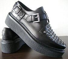 ASH Plateau Slipper Schuhe Sneaker Damen Halbschuhe Leder Nieten Black Gr.37 NEU