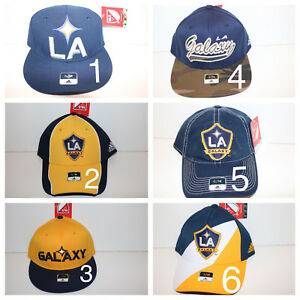 NEW LA GALAXY Soccer MLS Adidas Hat FITTED S/M Cap Yellow YOU CHOOSE COLORS **