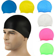 Unisex Silicone Sport Outdoor Swimming Cap for Women and Men Average/Large Heads