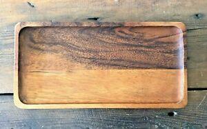 Handmade Oblong Wooden Coin Key Pen Tray Bathroom Decoration Men Desk Tidy ERROR