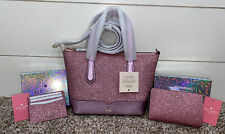100 Authentic Kate Spade Lola Glitter Small Satchel Rose Pink WKR00159