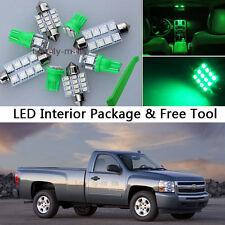 12x Green LED Interior Light Package kit Fit Chevy Silverado & GMC Sierra J1