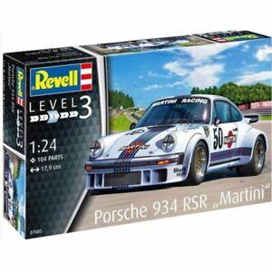 """Revell 1/24 Porsche 934 Rsr """"Martini"""" - 07685 Plastic Model Kit"""