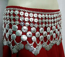 Kuchi Tribal Bellydance Turkish Coin Belt Scarf Skirt Costume Jewelry Gypsy Boho