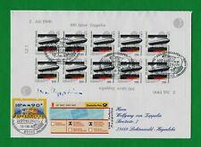 100 J. Zeppelin handsigniert v. von Zeppelin R- & EIG-FDC Fehlverwendung LZN07 R