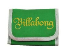 Billabong GOODIE Green Yellow White TriFold Snap Closure Discount Women's Wallet