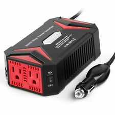 300W Pure Sine Wave Power Inverter DC 12V AC 110V 2 USB Charger Adapter, BESTEK
