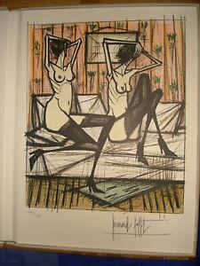 """Bernard BUFFET - Lithographie """"Jeux de Dames"""" 1970 - Signée à la main."""