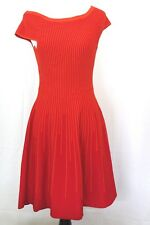 French Connection  Red Color Solid Stretch Knit  Short Sleeve  Dress Size 6