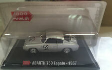 """DIE CAST 1000 MIGLIA """" ABARTH 750 ZAGATO - 1957 """" + BOX 2 SCALA 1/43"""
