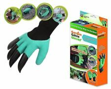 New Garden GENIE Gloves For Digging & Planting With4 ABS Plastic Claws Gardening
