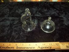 Glass breast feeding pump no bulb with funnel vintage antique + baby bottle top