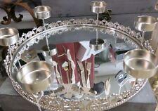 Plateau spiegeltablett dekotablett Métal Miroir chandelier