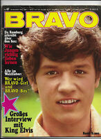 BRAVO Nr.47 vom 16.11.1970 Kinks, Miguel Rios, Geraldine Chaplin, Elvis Presley