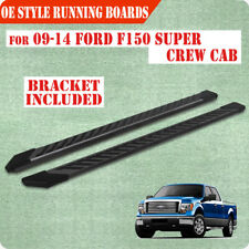 "For 09-14 FORD F150 Super Crew Cab 4.5"" Running Board Nerf Bar Side Step FJ BLK"