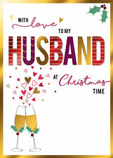 With Love To My Husband Embellished Christmas Card Shine Bright Range Cards