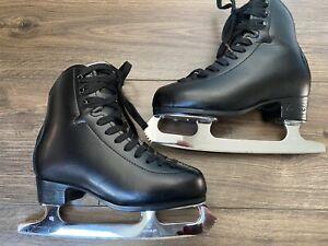 GRAFF 500 ICE SKATES - SIZE 33/(UK 1) - BLACK