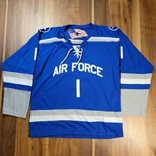 Rare Mens Blue Air Force 1 Hockey Jersey Unknown Size See Pics