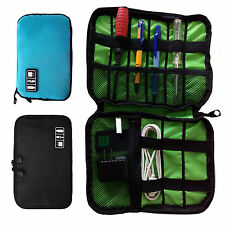 WO USB Flash Drives Case Organizer Bag Digital Storage Pouch Data Earphone Cable