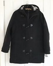 Men's Henri Lloyd Wool Warm Grey Quilted Hooded Duffle Coat - Size Small