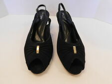 HUSH PUPPIES LADIES BLACK FABRIC  SLINGBACK DRESS HEELS SHOES SIZE 10 M