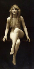 Huge Oil painting nude young woman seated - NICE PORTRAIT