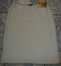 ZARA WHITE FURY STRETCH SKIRT 4 Spain SOFT WARM GORGEOUS!!!