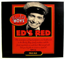 Barley Boys Brewery ED'S RED PALE ALE beer label NE 12 oz