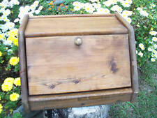 Country BreadBox Wood Bread box Hand Crafted Primitive
