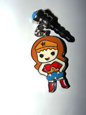 wonder women Girl plug -dust  cell phone charm