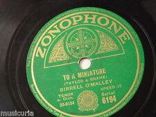 78rpm BIRRELL O`MALLEY to a miniature / waiata poi [ maori poi song ] ZON 6194