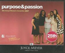 PURPOSE & PASSION  2007 Women's Convention   Joyce Meyer  5 CDs