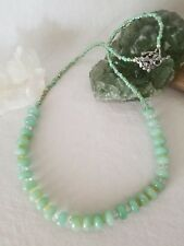 African Amazonite With Rock Crystal Quartz And Yellow Opal Beaded Necklace