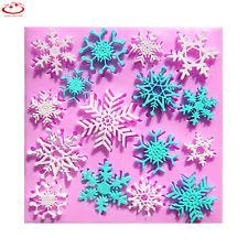 Silicone Snowflake Christmas Design Fondant Sugar Paste Cake Decorating Mould