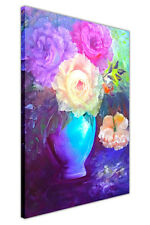 Flower in Vase Canvas Wall Art Prints Home Deco Pictures Oil Painting Re-Print