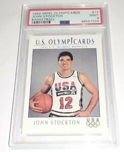 1992 Impel Olympicards #17 John Stockton PSA 9 Mint Dream Team USA Pop 24